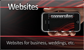 Websites - Sites for weddings, business, and more.